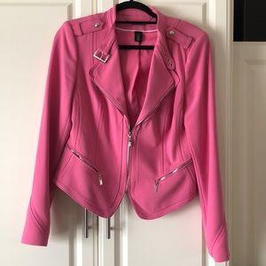 White House Black Pink Market Moto Jacket
